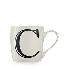 Home Collection - White 'C' letter mug