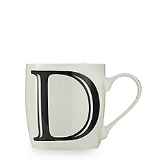 Home Collection - White 'D' letter mug