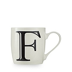 Home Collection - White 'F' letter mug