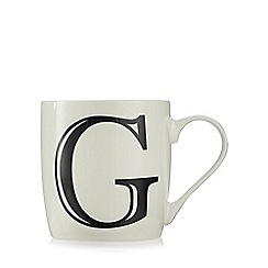 Home Collection - White 'G' letter mug