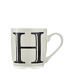 Home Collection - White 'H' letter mug