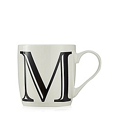 Home Collection - White 'M' letter mug