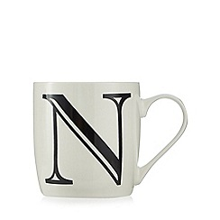 Home Collection - White 'N' letter mug