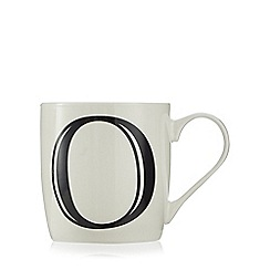 Home Collection - White 'O' letter mug