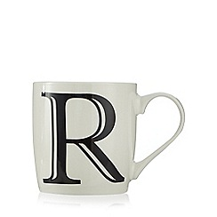 Home Collection - White 'R' letter mug