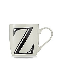 Home Collection - White 'Z' letter mug