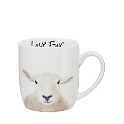 Home Collection - White 'Love Ewe' sheep mug
