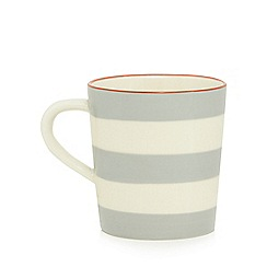 Home Collection - Grey and cream striped mug
