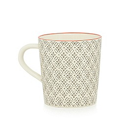 Home Collection - Grey and cream 'Stockholm' geometric print mug