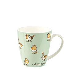 Queens - Green 'The In Crowd - A Bobbin of Robins' mug