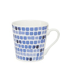 Home Collection - Blue square print mug