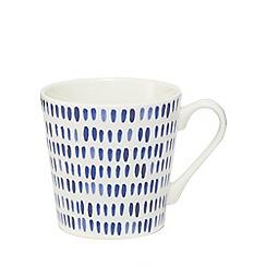 Home Collection - Blue line print mug