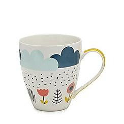 Home Collection - Multi-coloured cloud print mug