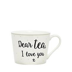 Home Collection - Off white 'Team tea' mug