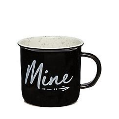 Home Collection - Black 'Mine' mug