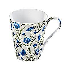V&A - Multi-coloured gloss finish 'Cornflower' mug