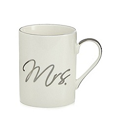 Home Collection - White 'Mrs.' mug