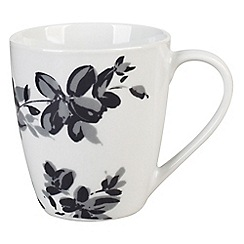 Sabichi - Set of 4 white floral porcelain 'Juliette' mugs