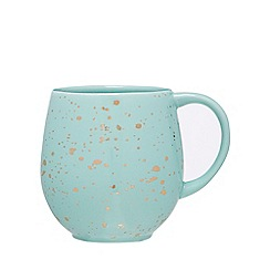Home Collection - Pale green speckle pattern mug