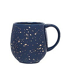 Debenhams - Navy speckle pattern mug