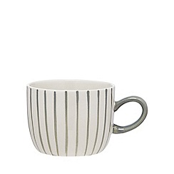 Debenhams - White and grey striped mug