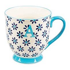 Sass & Belle - Multi-coloured 'Bohemian' letter A mug