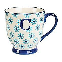 Sass & Belle - Multi-coloured 'Bohemian' letter C mug