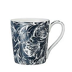 Denby - White and blue glazed 'Monsoon - Tulip' mug