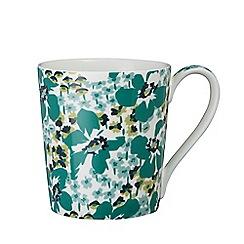 Denby - Multi-coloured glazed 'Monsoon - Vintage Floral' mug
