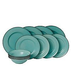 Royal Doulton - Teal stoneware 'Gordon Ramsay -Union Street' 12 piece dinnerware set