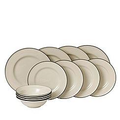 Royal Doulton - Brown stoneware 'Gordon Ramsay - Union Street' 12 piece dinnerware set