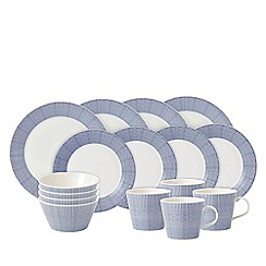 Royal Doulton - White porcelain 'Pacific' 16 piece spotted dinnerware set