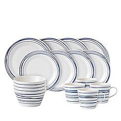 Royal Doulton - White porcelain 'Pacific' 16 piece lines dinnerware set