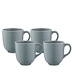 Mason Cash - Set of 4 grey stoneware 'Classic Collection' mugs