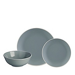 Mason Cash - Grey stoneware 'Classic Collection' 12 piece dinnerware set