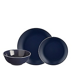 Mason Cash - Blue stoneware 'Classic Collection' 12 piece dinnerware set