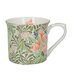 V & A - Multi-coloured fine bone china 'Bower Palace' mug