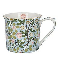V & A - Multi-coloured fine bone china 'Clover Palace' mug