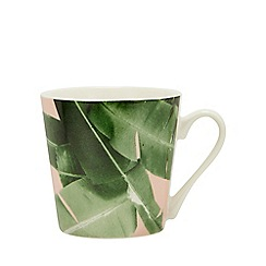 Home Collection - Multicoloured Leaf Print Mug