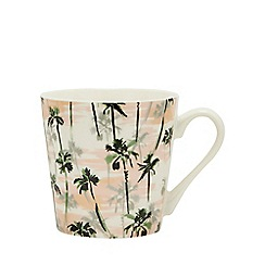 Home Collection - Multicoloured Palm Tree Print Mug