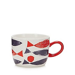 Debenhams - Multicoloured Fish Print Mug