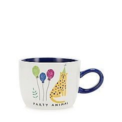 Debenhams - Multicoloured Party Animal Mug