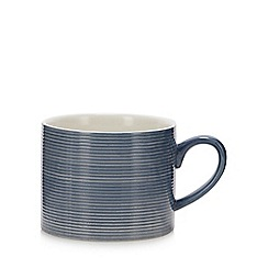 Debenhams - Blue Large Textured Mug