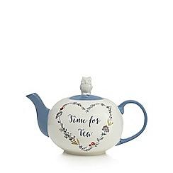 At home with Ashley Thomas - White owl lid teapot