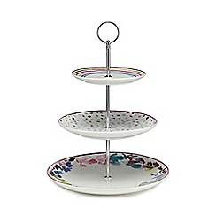 At home with Ashley Thomas - Multi-coloured three tier bloom cake stand