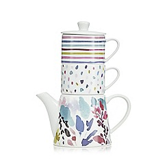 At home with Ashley Thomas - Bloom multi-coloured porcelain tea for two set