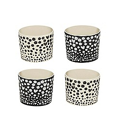 Ben de Lisi Home - Set of four spotted egg cups