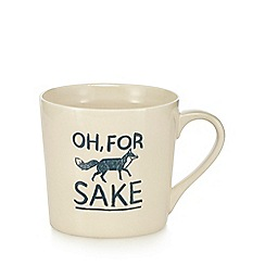 Ben de Lisi Home - Ceramic fox slogan giant mug