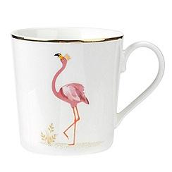 Sara Miller - Multi-coloured porcelain 'Flamingo' mug