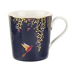 Sara Miller - Navy blue porcelain 'Chelsea' mug